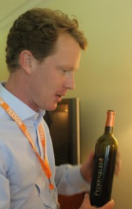 Fredrik Österberg talking about Pedernales Cellars wine. Photo courtesy of whatareyoudrinking.net.